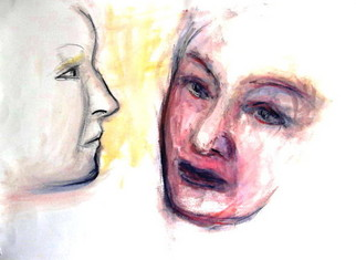 Artist: Lois Di Cosola - Title: Dialogues - Medium: Tempera Painting - Year: 1997