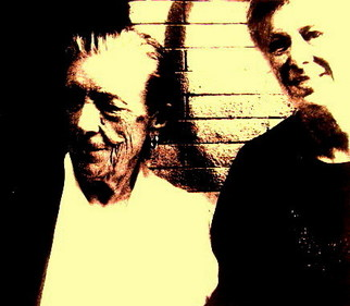 Color Photograph by Lois Di Cosola titled: Lois DiCosola with Louise Bourgeois, created in 1994