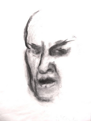 Portrait Charcoal Drawing by Lois Di Cosola Title: Man dlt, created in 1999