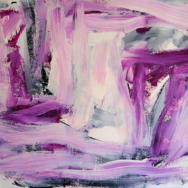 Lois Di Cosola: 'Pink Lady 2', 2002 Acrylic Painting, Abstract. Artist Description:  acrylic painting on handmade paper ...