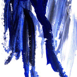 Lois Di Cosola Artwork bLUE DANCER, 2015 Other Painting, Abstract