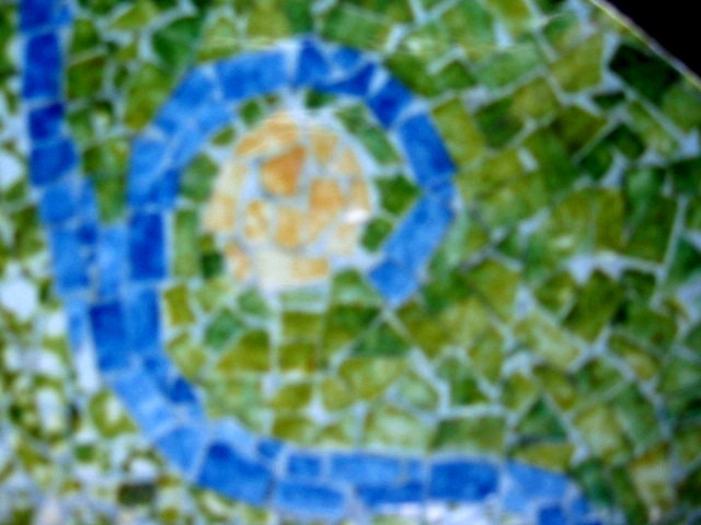 Lois Di Cosola mosaic table top detail 1954
