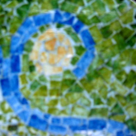 mosaic table top detail