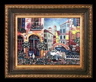 Vranceanu Aurelian: 'italian flavor', 2018 Painting, Cityscape. Artist Description: Italian flavor- oil on canvas- 60x46cmm- cityscape - realism romantic- created in 2018 - for info - tel +40764800326 or +40724633073 , mail radu_ aurel2004yahoo. com or facebook Radu Aurelian Exhibition...
