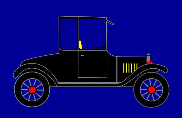 Asbjorn Lonvig  '1919 Ford High Body Model T Coupe', created in 2010, Original Painting Other.