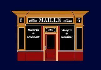 Asbjorn Lonvig: '6 place de la Madeleine a Parisian Shop', 2010 Serigraph, Abstract.   Maille is famous for its oils, mustards and vinegars, for more than 260 years Maille has delighted lovers of fine food everywhere, with its sophisticated blend of authenticity and modernity, elegance and extravagance, refinement and originality. Antoine Maille, according to one of his contemporaries,