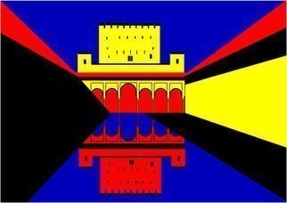 Asbjorn Lonvig: 'Alhambra', 2010 Serigraph, Abstract.  For sale is 1 original inks on canvas, size: 84 x 59,4 cm ( 33. 1