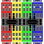 Amsterdam Architecture Merchant Houses at Night By Asbjorn Lonvig