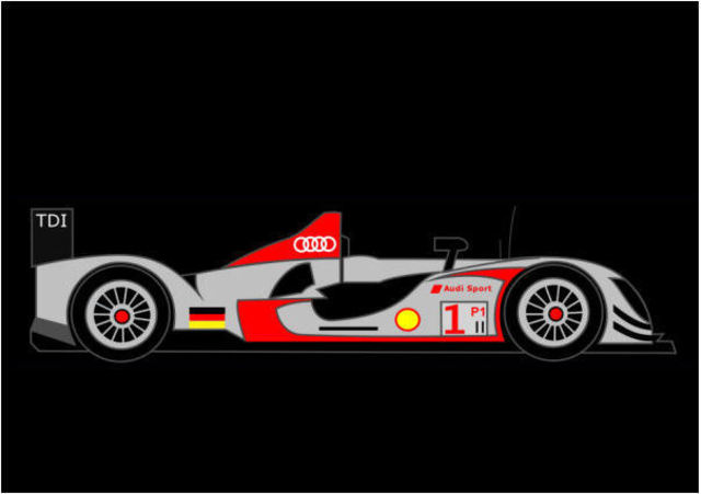 Asbjorn Lonvig  'Audi R15', created in 2010, Original Painting Other.