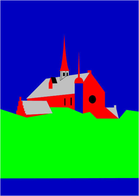Asbjorn Lonvig  'Cathedral Of Haderslev', created in 2010, Original Painting Other.