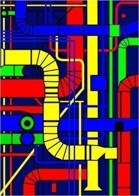 Asbjorn Lonvig: 'Centre Pompidou Right', 2010 Serigraph, Abstract.                                                  For sale is 1 original inks on canvas, size: 84 x 59,4 cm ( 33. 1i? 1/2 x 23. 4i? 1/2) , price is US$ 8,632.For sale is furthermore 210 exclusive fine art prints numbered and signed archival inks on cotton, that is on Hahnemi? 1/2hle Museum Etching 350gsm fine art...