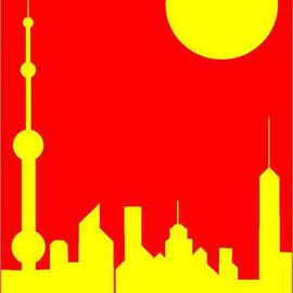Asbjorn Lonvig Artwork China Five Shanghai Sunshine, 2005 Collage, Abstract