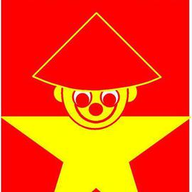 Asbjorn Lonvig Artwork China Two The Five Star Chinese Smile, 2005 Collage, Abstract