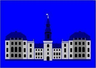 Asbjorn Lonvig: 'Christiansborg Palace', 2010 Serigraph, Abstract.                                                               For sale is 1 original inks on canvas, size: 84 x 59,4 cm ( 33. 1i? 1/2 x 23. 4i? 1/2) , price is US$ 8,632.For sale is furthermore 210 exclusive fine art prints numbered and signed archival inks on cotton, that is on Hahnemi? 1/2hle Museum Etching 350gsm fine art...