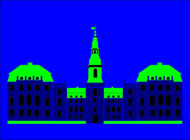 Asbjorn Lonvig  'Christiansborg Palace Blue', created in 2006, Original Painting Other.