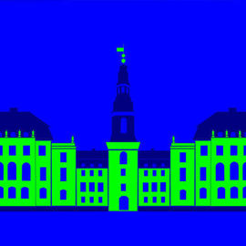 Asbjorn Lonvig: 'Christiansborg Palace Green', 2006 Acrylic Painting, Abstract. Artist Description: Christiansborg Palace on Slotsholmen in central Copenhagen is the home of Denmark' s three supreme powers: the executive power, the legislative power, and the judicial power. It is the only building in the world which is the home of all a nation' s three supreme powers. The palace ...