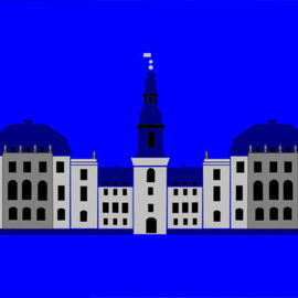 Asbjorn Lonvig: 'Christiansborg Palace Grey', 2006 Acrylic Painting, Abstract. Artist Description: Christiansborg Palace on Slotsholmen in central Copenhagen is the home of Denmark' s three supreme powers: the executive power, the legislative power, and the judicial power. It is the only building in the world which is the home of all a nation' s three supreme powers. The palace ...