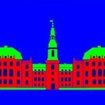 Christiansborg Palace Red By Asbjorn Lonvig