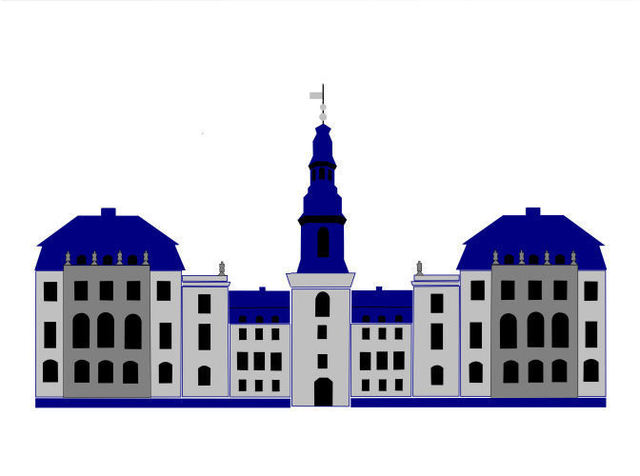 Asbjorn Lonvig  'Christiansborg Palace White', created in 2006, Original Painting Other.