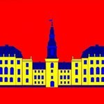 Christiansborg Palace Yellow By Asbjorn Lonvig
