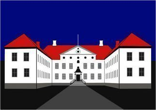 Asbjorn Lonvig: 'Clausholm Manor House', 2010 Serigraph, Abstract.                                                                           For sale is 1 original inks on canvas, size: 84 x 59,4 cm ( 33. 1i? 1/2 x 23. 4i? 1/2) , price is US$ 8,632.For sale is furthermore 210 exclusive fine art prints numbered and signed archival inks on cotton, that is on Hahnemi? 1/2hle Museum Etching 350gsm fine art...