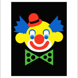 Clown with printed passepartout By Asbjorn Lonvig