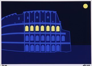 Asbjorn Lonvig: 'Colosseum', 2016 Other Printmaking, Cityscape.  Colosseum Rome signed...