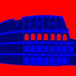 Colosseum Print on canvas  By Asbjorn Lonvig