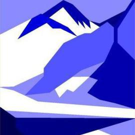 Everest Blue Signed Print on Canvas