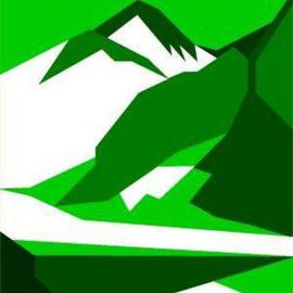 Everest Green Signed Print on Canvas By Asbjorn Lonvig