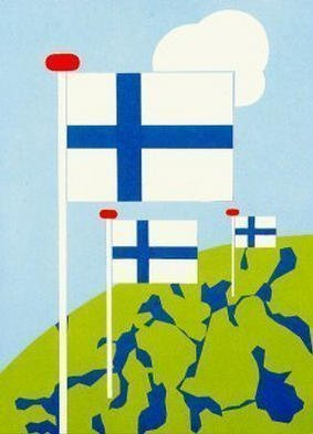Collage by Asbjorn Lonvig titled: Finland, created in 2002