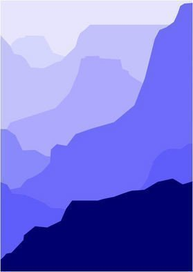Asbjorn Lonvig: 'Grand Canyon Blue', 2010 Serigraph, Abstract.                      For sale is 1 original inks on canvas, size: 84 x 59,4 cm ( 33. 1