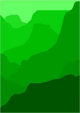 Asbjorn Lonvig: 'Grand Canyon Green', 2010 Serigraph, Abstract.                        For sale is 1 original inks on canvas, size: 84 x 59,4 cm ( 33. 1