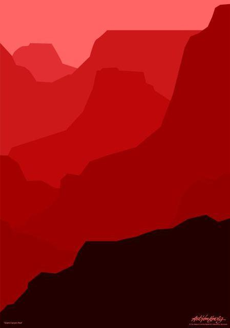 Asbjorn Lonvig  'Grand Canyon In Red', created in 2006, Original Painting Other.