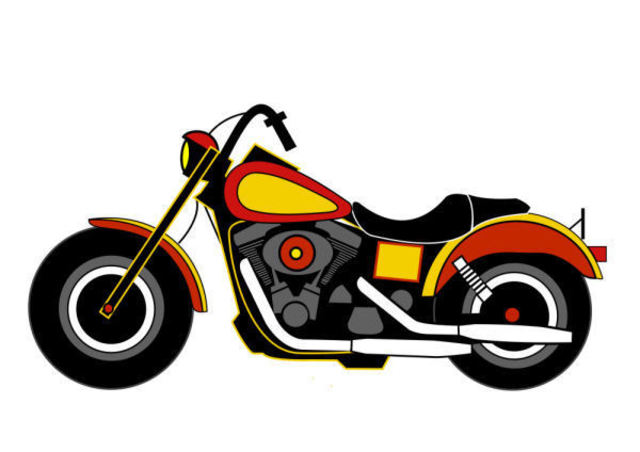 Asbjorn Lonvig  'Harley Davidson', created in 2010, Original Painting Other.