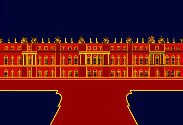 Asbjorn Lonvig  'Inspired By The Palace Of Versailles', created in 2010, Original Painting Other.