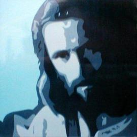 Asbjorn Lonvig: 'Jesus Christ', 2004 Acrylic Painting, Portrait. Artist Description: From TEAM lonvig. dk.My eldest son Morten has created these paintings