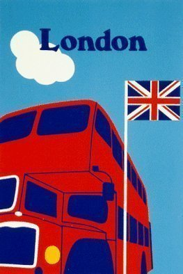 Collage by Asbjorn Lonvig titled: London Bus, created in 2002