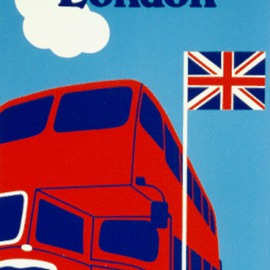 Asbjorn Lonvig Artwork London Bus, 2002 Collage, Abstract