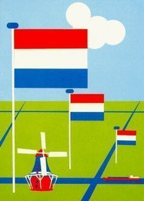 Collage by Asbjorn Lonvig titled: Nederlands, 2002