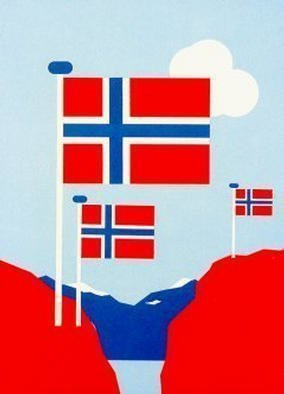 Collage by Asbjorn Lonvig titled: Norway, created in 2002