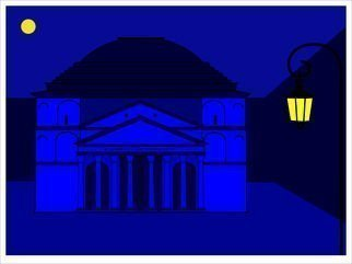 Asbjorn Lonvig: 'Pantheon by night', 2016 Other Printmaking, Atmosphere. Artist Description:  Pantheon by night ...