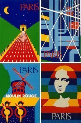 Collage by Asbjorn Lonvig titled: Paris, created in 2002