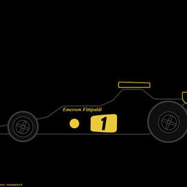 Racing Cars The Art Dimension Lotus 72  By Asbjorn Lonvig