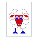 Sleep Sheep with printed passepartout By Asbjorn Lonvig