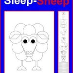 Sleep Shepp Coloring Poster By Asbjorn Lonvig