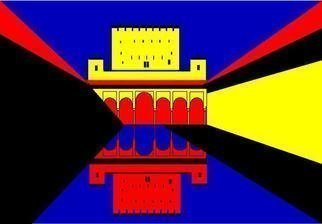 Asbjorn Lonvig Artwork Spain Eight Moorish Castle Alhambra in Granada, 2005 Spain Eight Moorish Castle Alhambra in Granada, Abstract