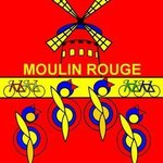 Stage 21 Riders took a break at Moulin Rouge By Asbjorn Lonvig