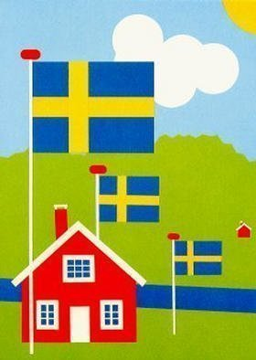 Collage by Asbjorn Lonvig titled: Sweden, created in 2002