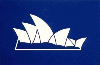 Collage by Asbjorn Lonvig titled: Sydney Opera House, created in 2002